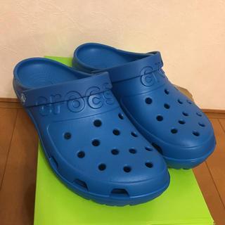 クロックス(crocs)のクロックス ブルー 28センチ(サンダル)