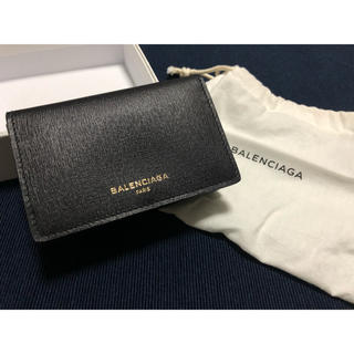 バレンシアガ(Balenciaga)のバレンシアガ カードケース/名刺入れ ブラック/ゴールド 新品未使用(名刺入れ/定期入れ)