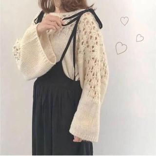 Lochie - kitty  ブラック リボン サロペット ジャンパースカート