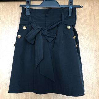 CECIL McBEE - トレンチスカート ミニスカート ブラック