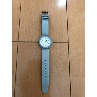 MUJI (無印良品) - 無印良品 ソーラー腕時計 グレー