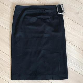 ピンキーアンドダイアン(Pinky&Dianne)のPINKY & DIANNE 黒フロントスリットタイトスカート(ひざ丈スカート)
