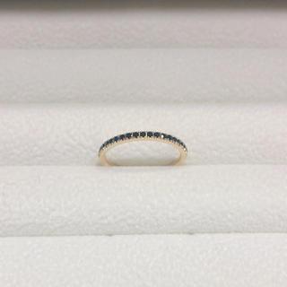 アガット(agete)のベルシオラ ブラックダイヤ k18 YG リング 8号(リング(指輪))
