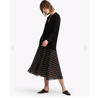theory - theory Polka Dot Silk Volume Skirt FL 美品