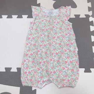 babyGAP - 花柄ロンパース