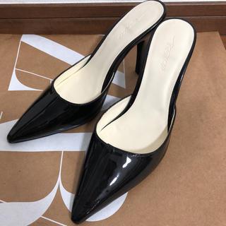 マウジー(moussy)のマウジー moussy ミュール パンプス サンダル 靴 ブラック(ミュール)