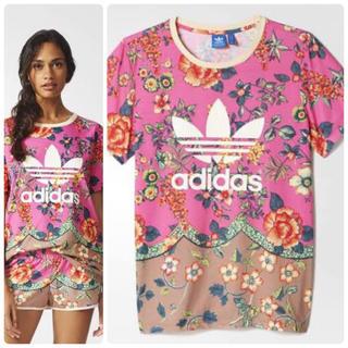 adidas - adidas x FARM BF TREFOIL TEE 花柄 Tシャツ M