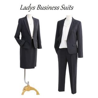 春夏新品 3L ビジネススーツ クロップドパンツ(紺)90818306001(スーツ)