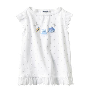 familiar - 新品未使用 ファミリア  レース付き Tシャツ 90cm