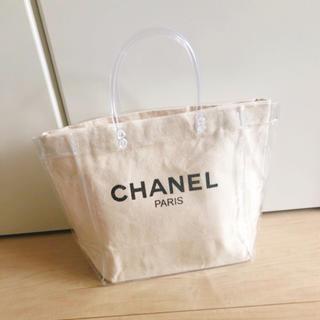 CHANEL - ビニールバッグ キャンバストート マザーズバッグ  ハンドバッグ サマーバッグ