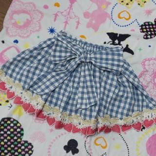 リズリサ(LIZ LISA)のリズリサ ストロベリースカパン スカート ギンガム(キュロット)
