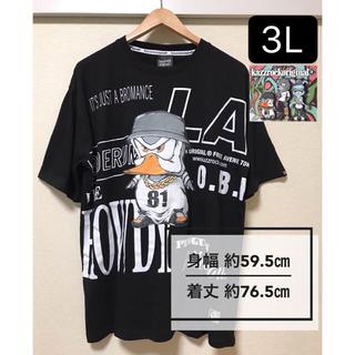 カズロックオリジナル(KAZZROCK ORIGINAL)の新品タグ付き 大きいサイズ3L カズロックオリジナル ペンギン LA 黒(Tシャツ/カットソー(半袖/袖なし))