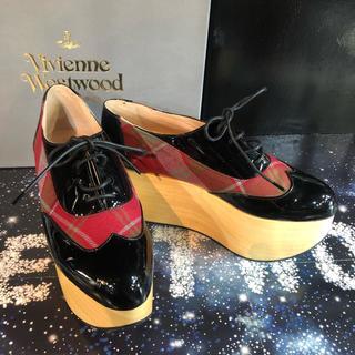 ヴィヴィアンウエストウッド(Vivienne Westwood)の新品 Vivienne ロッキンホース ギリー タータンUK5(ローファー/革靴)