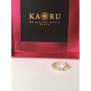 KAORU  カオル K10グリーンゴールド ボタニカルリング