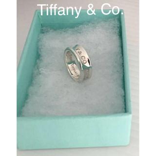 Tiffany & Co. - ★*゜Tiffany & Co.sv925/ナローワイドリング◉10.5号✨