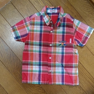 ミキハウス(mikihouse)の値下げ!ミキハウス 半袖チェックシャツ サイズ80(シャツ/カットソー)