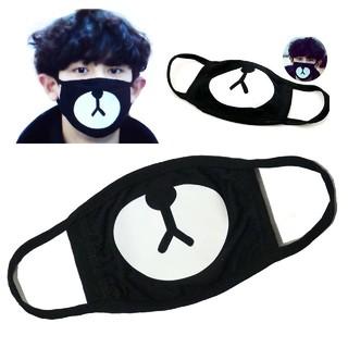 【大人気】 かわいい 熊 マスク 黒 k-pop 洗濯可能 動物 アニマル