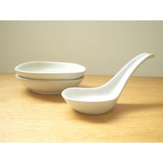 ムジルシリョウヒン(MUJI (無印良品))の無印良品 MUJI 小皿&レンゲ 鍋 和食器 陶器(食器)