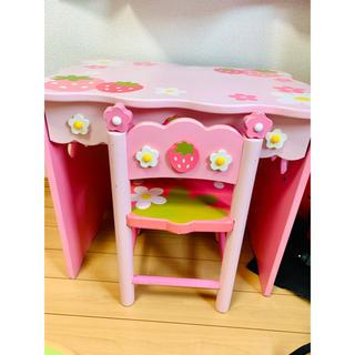 マザーガーデン  野いちご テーブル&椅子 セット ピンク