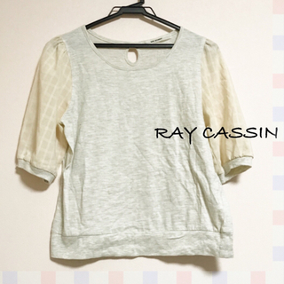 RAY CASSIN ♡ 袖シアーチェックカットソー