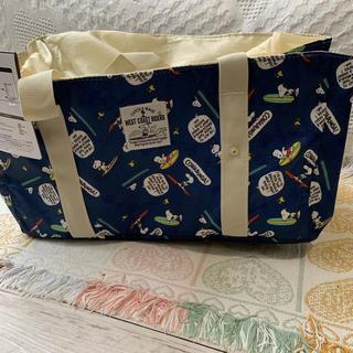 スヌーピー(SNOOPY)の《新品 タグ付き》 スヌーピー 巾着付きトートバッグ  レジカゴバッグ(エコバッグ)