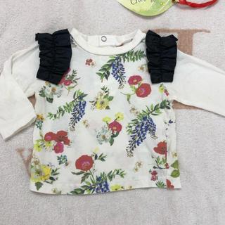 チェスティ(Chesty)のchesty petit 肩フリル長袖Tシャツ 80(シャツ/カットソー)