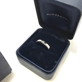 バーバリー(BURBERRY)の442 バーバリー プラチナダイヤリング PT900(リング(指輪))