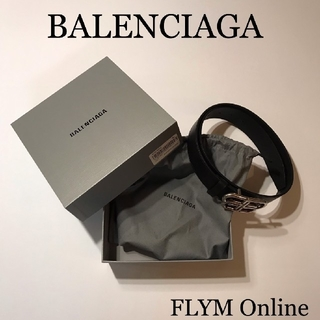 バレンシアガ(Balenciaga)の新品 BALENCIAGA BB ベルト BLACK × SILVER 80 (ベルト)