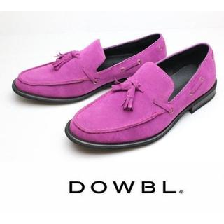 ダブル(DOWBL)の新品DOWBLスウェードタッセルローファー26cm♂定価 10,260円(スリッポン/モカシン)