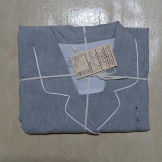 ムジルシリョウヒン(MUJI (無印良品))の無印良品 脇に縫い目のないブロードパジャマ タグ付き未使用 レディースL(パジャマ)