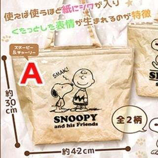スヌーピー(SNOOPY)のスヌーピー PVC ウォッシュペーパー トートバッグ スヌーピー&チャーリー(トートバッグ)
