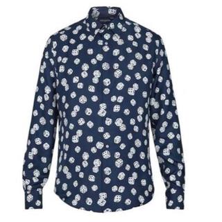 LOUIS VUITTON - ルイヴィトン 2018fw ダイスシルクシャツ