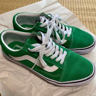 VANS - バンズ ヴァンズ オールドスクール 24.5cm 緑色 美品