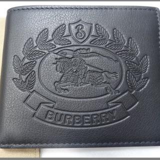 BURBERRY - 新品タグ付★バーバリー本家【ビッグホースロゴ】2つ折牛革財布★プレゼント◎