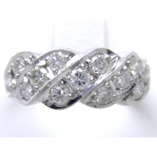 プラチナ ダイヤモンド 1ct リング(リング(指輪))