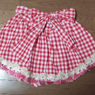 リズリサ(LIZ LISA)のギンガムチェック☆ストロベリー☆苺☆スカート(キュロット)