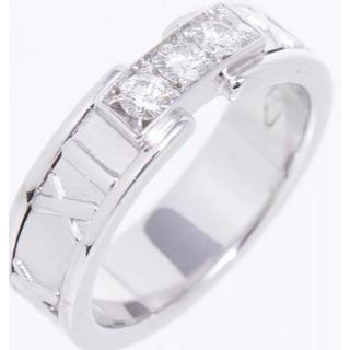 ティファニー(Tiffany & Co.)のティファニーリング指輪WGローマ数字ダイヤ中古美品#9、5(リング(指輪))