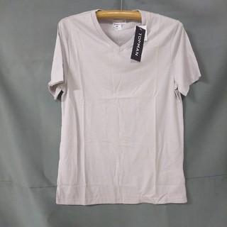 トップマン(TOPMAN)のメンズ VネックTシャツ ライトグレー(Tシャツ/カットソー(半袖/袖なし))