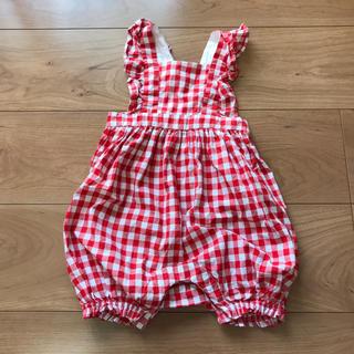 babyGAP - baby gap ギンガムチェックロンパース
