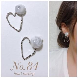 残り4set☺︎2way heart earring(イヤリング)