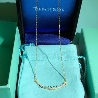 Tiffany & Co. - Tiffanyのsmile Tネックレス
