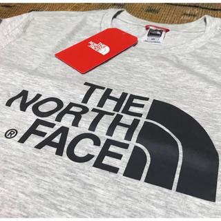 THE NORTH FACE - 【海外限定】ノースフェイス ロゴ Tee 海外M/日本L 定番カラーのグレー