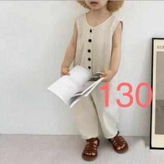 大人気商品❤️オールインワン 子供服 90 120 130 リネン  夏服