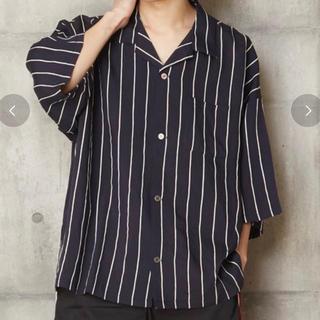 LAD MUSICIAN - 開衿ストライプシャツ ベーシックオープンカラーシャツストライプシャツ