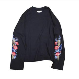 ジエダ(Jieda)のjieda flower emboidery l/s 19ss(Tシャツ/カットソー(七分/長袖))