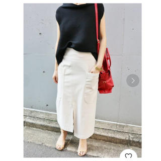 IENA - IENA Cu/C ビッグポケットアシメントリースカート◆タイトスカート