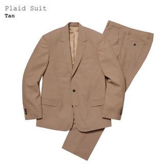Supreme - supreme plaid suit 19ss tan