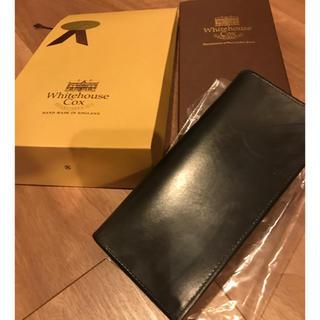 ホワイトハウスコックス(WHITEHOUSE COX)のWhiteHouseCox 長財布 ブラック ブライダルレザー(長財布)