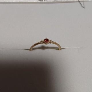 K10ガーネットリング(ダイヤ入り)(リング(指輪))