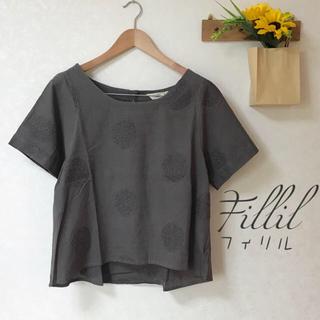 メルロー(merlot)の新品✨ ドット刺繍プルオーバー(シャツ/ブラウス(半袖/袖なし))